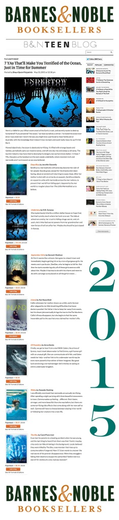 Barnes and Noble Teen Reads 2015