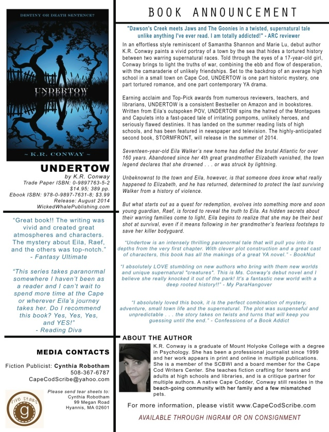 press release for UNDERTOW