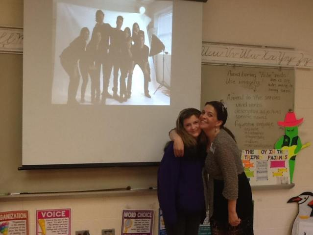 Kate visits a Middle School to talk about awesome books to read and what makes a great story.